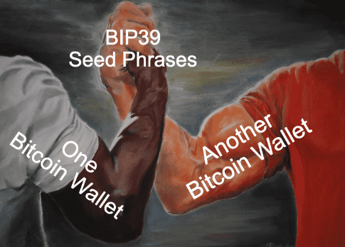 Meme: BIP39 Seed Phrase Compatibility Amongst Bitcoin Wallets by Bitcoin Briefly